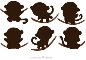 Cartoon Monkey Silhouette Vectoren