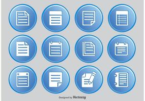 Opmerking Icon Set vector