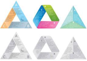 Driehoekskaartvectoren vector