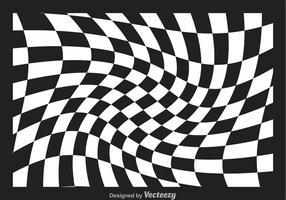 Distorted Checker Board Vector