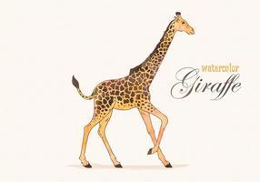 Gratis Vector Waterverf Giraf Illustratie