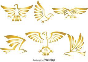 Gouden Eagle Logo Vectoren