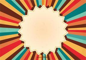 Retro Sunburst Achtergrond Illustratie vector