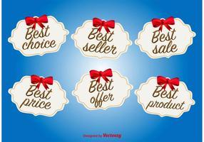 Best aanbod en Deal Labels vector