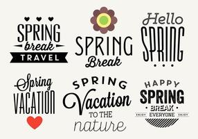 Typografische Lente Vector Labels