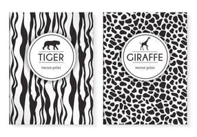 Gratis Wild Animal Prints Vector Cover