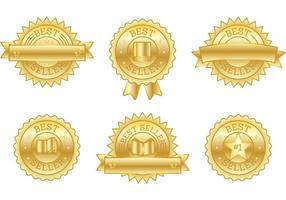 Bestseller Boek Badge Vectoren