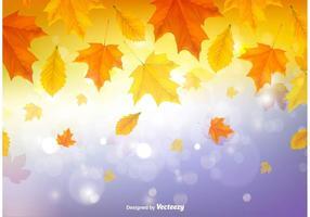 Herfst laat de achtergrond achter vector