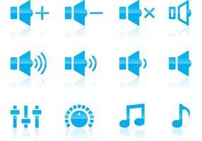 Volume en audio iconen vector