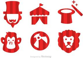 Vector circus iconen