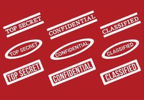 Top geheimzegelvectoren
