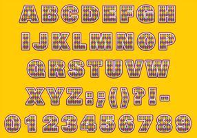 Mardi gras lettertype vector