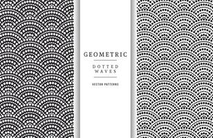 Gratis Geometrische Gestippelde Golven Vector Patronen