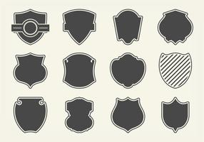 Gratis Vector Shield Shapes