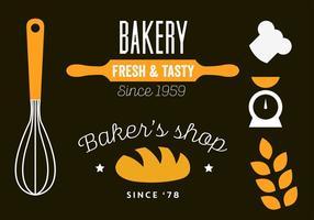 Vector illustratie van een bakkerij winkel sjabloon ontwerp