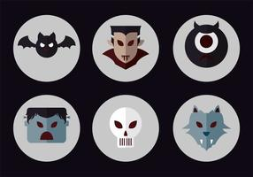Dracula vector icon set