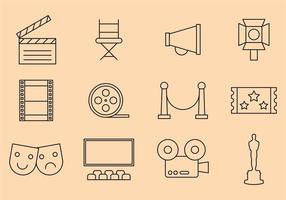 Vector Film Pictogrammen
