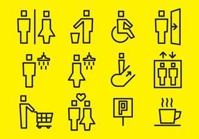 Vierkante Stick Figure Vector Signs