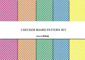 Checker board patroon set vector