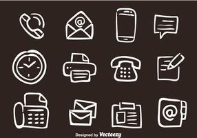 Hand getekende kantoor vector iconen