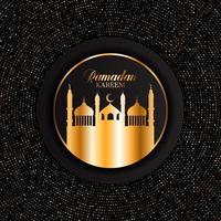 elegante ramadan kareem achtergrond met gouden stippen vector