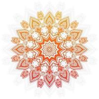 oranje en geel verloop mandala ontwerp vector