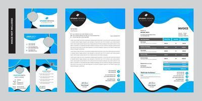 moderne zakelijke zakelijke briefpapier sjabloonontwerp