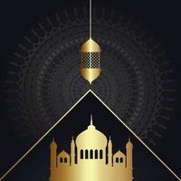 decoratieve ramadan achtergrond met lantaarn