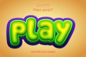 3D-groen en paars spelen teksteffect vector