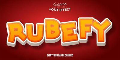 rubefy teksteffect vector