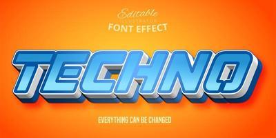 blauw technoteksteffect vector
