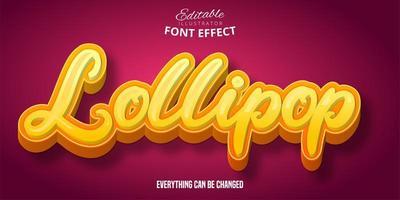 lollipop teksteffect