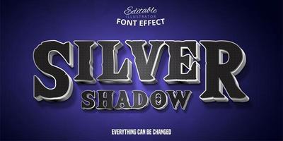 zilveren schaduw teksteffect vector