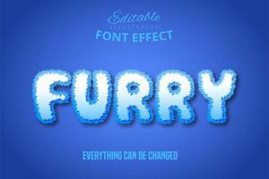 harig wit teksteffect vector