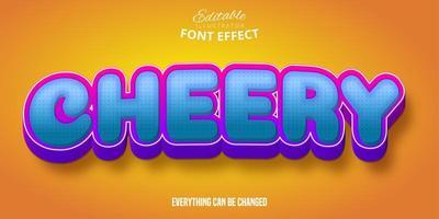 vrolijk komisch lettertype-effect vector