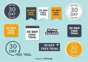 30-dagen vrije proefvectoren vector