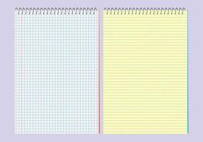 Vector Notebooks Sjablonen