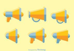 Megafoon Platte Pictogramvectoren vector