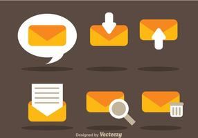 Vlakke sms vector iconen