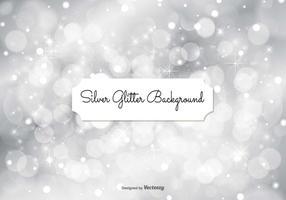 Zilveren Glitter Achtergrond Illustratie