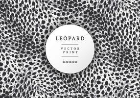 Gratis Leopard Print Achtergrond Vector