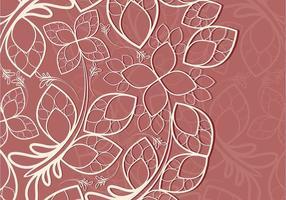 Roze Bloemen Kant Textuur Vector