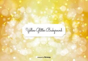Mooie Geel Glitter Achtergrond Illustratie