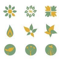 eenvoudige groene milieu logo set