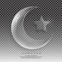 duidelijke halve maan ramadan