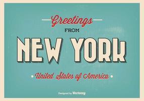 New York Greeting Illustratie vector