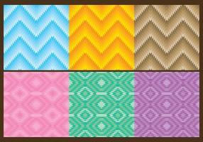 Driehoek aztec patronen vector