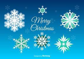 Kerstmis Sneeuwvlokken Decoratie vector