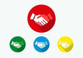 Handdruk Iconen Vectoren
