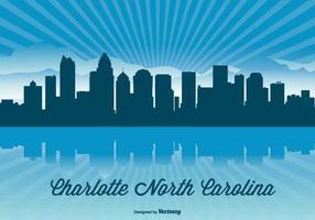 Charlotte Carolina Skyline Illustratie
